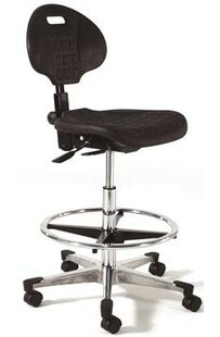 Height Adjustable Tilt Back Self Skin Laboratory Stool with Flat Base
