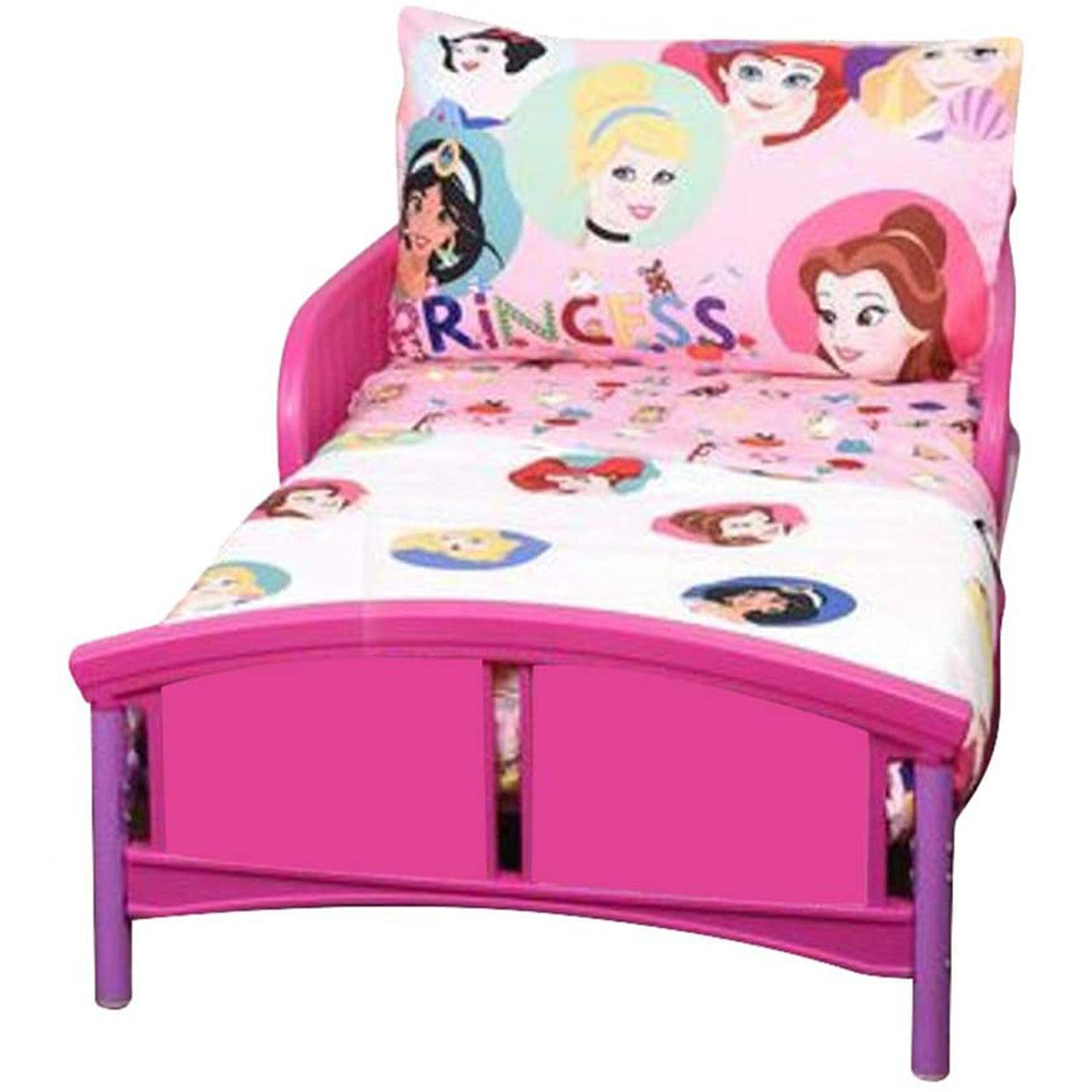 Disney Princess Cartoon Characters 3 Piece Toddler Bedding Set