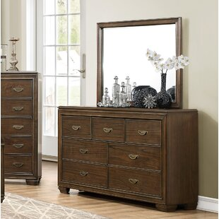 Garold 7 Drawer Double Dresser with Mirror