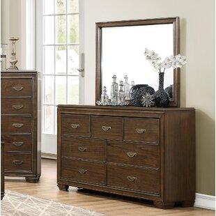 Garold 7 Drawer Double Dresser with Mirror