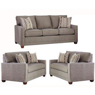 Nedra 3 Piece Living Room Set by Brayden Studio