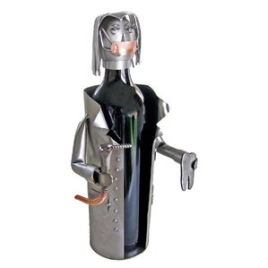 Female Dentist 1 Bottle Tabletop Wine Rack by H & K SCULPTURES