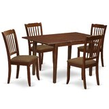 Schererville 5 Piece Solid Wood Dining Set by Winston Porter