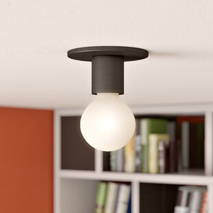 Affordable Hylton 1-Light Semi Flush Mount By Zipcode Design