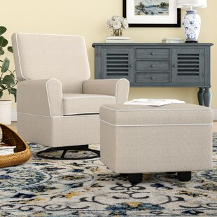 Darby Home Co Shelbyville Swivel Glider with Ottoman