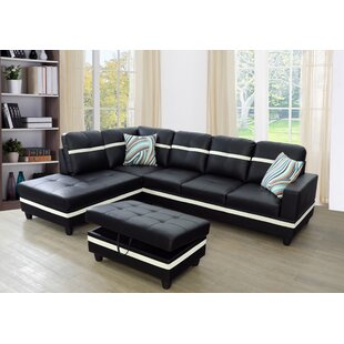 Latitude Run Lefebre Sectional with Ottoman