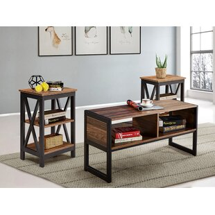 Dunkle 3 Pieces Coffee Table Set