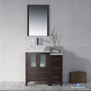 Best Price Mance 36 Single Bathroom Vanity Set with Wood Framed Mirror By Orren Ellis