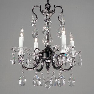 Classic Lighting Via Lombardi 4-Light Candle Style Chandelier