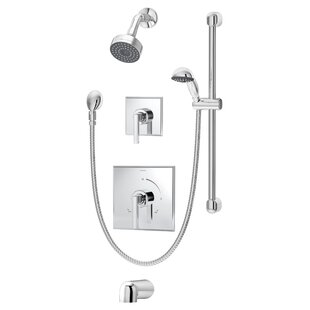 Symmons Duro Pressure Balance Tub and Shower System with Lever Handle