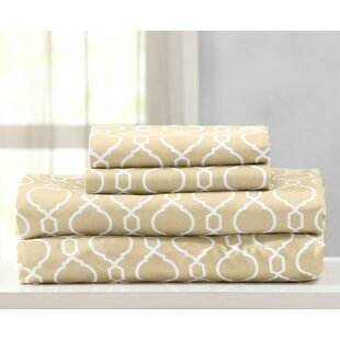 Anthony Geometric Printed Double Brushed Microfiber Sheet Set