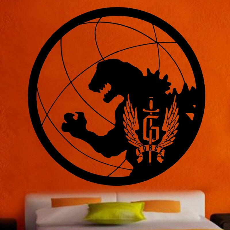 kult kanvas gforce godzilla logo decal vinyl wall sticker | wayfair