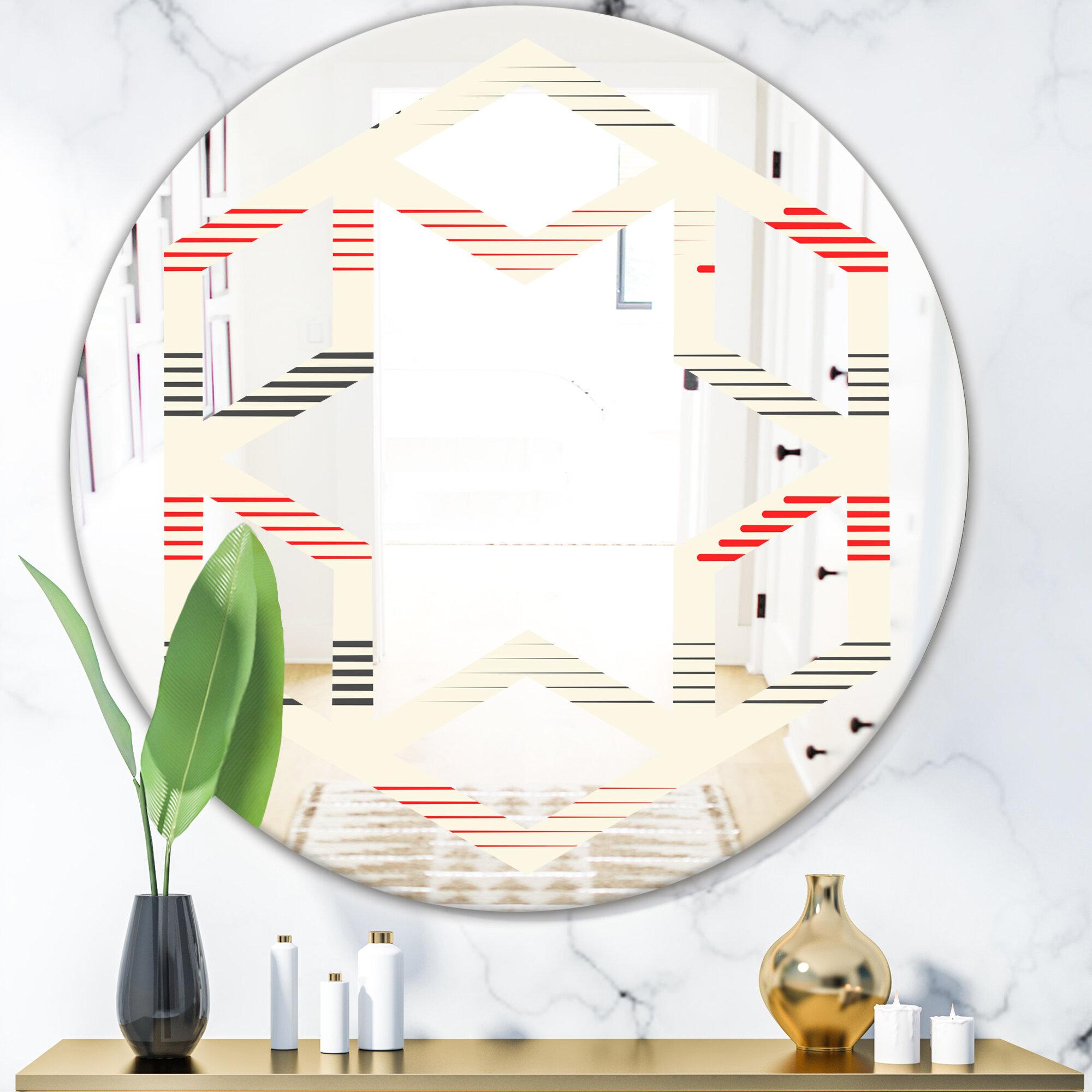 East Urban Home Hexagon Star Horizontal Geometrical Pattern I Eclectic Frameless Wall Mirror Wayfair