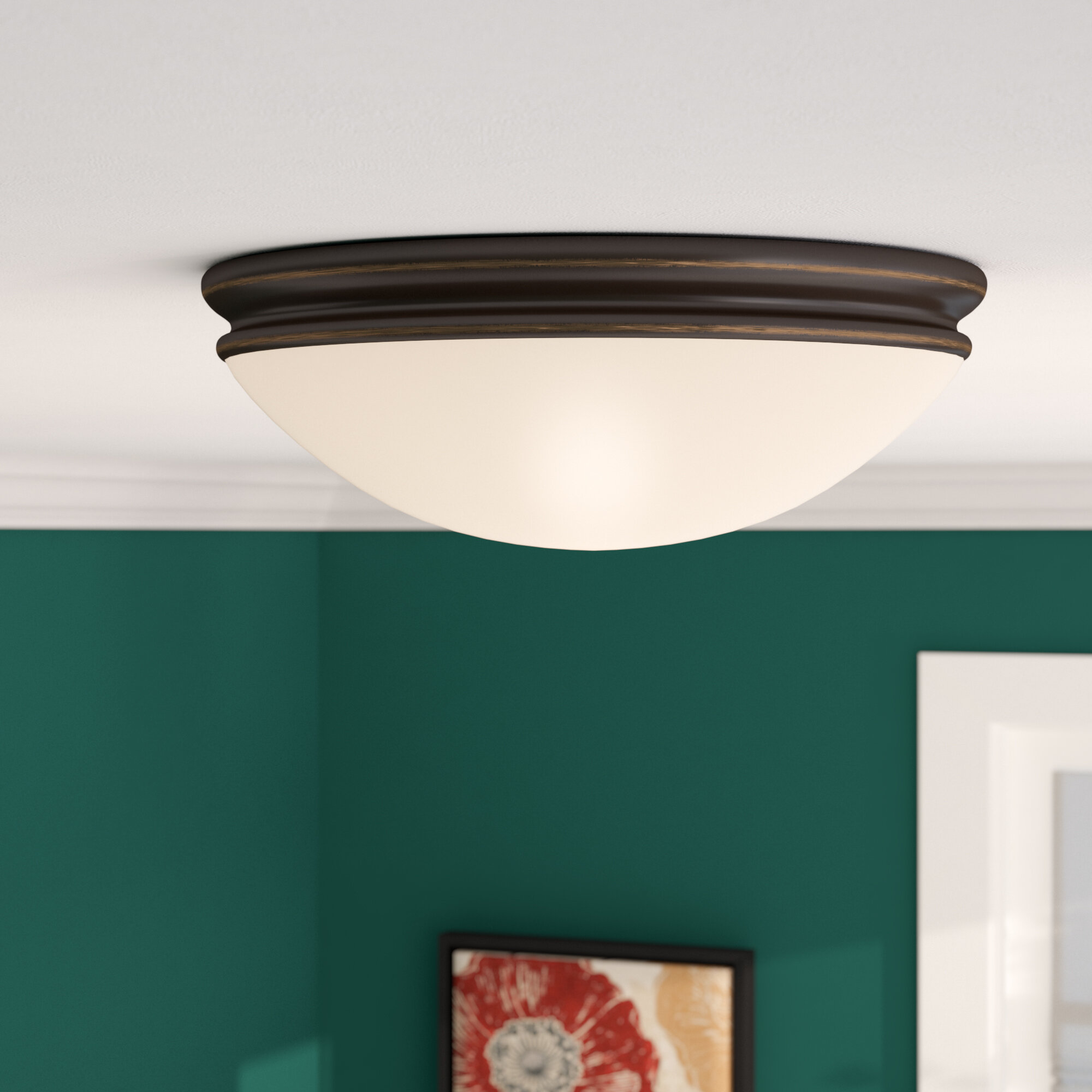 Three posts metcalfe flush mount reviews wayfair