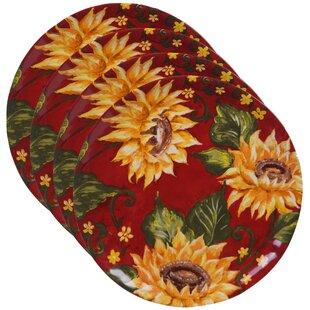 Willey Sunflower Dinner Plate (Set of 4)