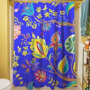 La Roque Summer Floral Single Shower Curtain
