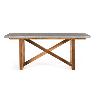 Gracie Oaks Schulman Solid Wood Dining Ta..