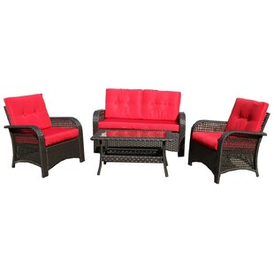 Pisuth 4 Piece Sofa Set with Cushions