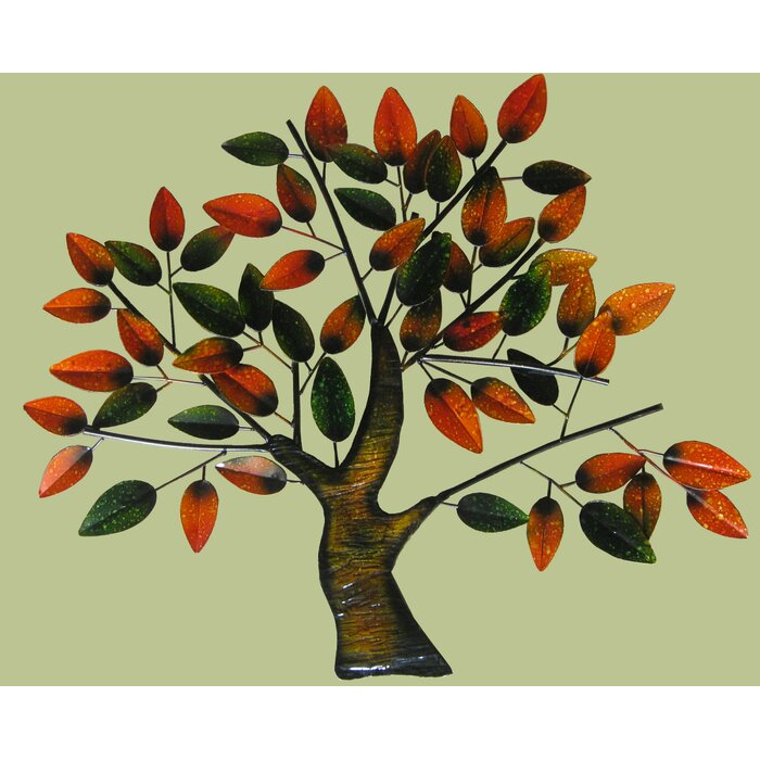 Red Barrel Studio Contemporary Metal Art Tree Wall Décor & Reviews ...