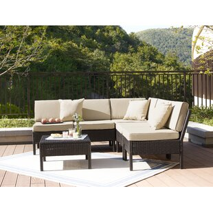 Hahira 6 Piece Rattan Sectional Seating Group With Cushions By Zipcode Design