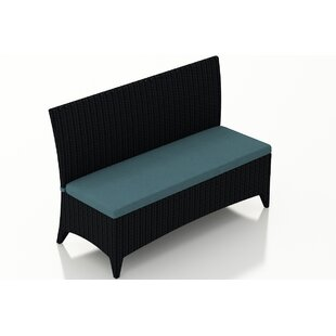 Holbrook Wicker Garden Bench by Rosecliff Heights Best Design
