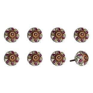 Handpainted Taj Hotel Mushroom Knob (Set of 8)