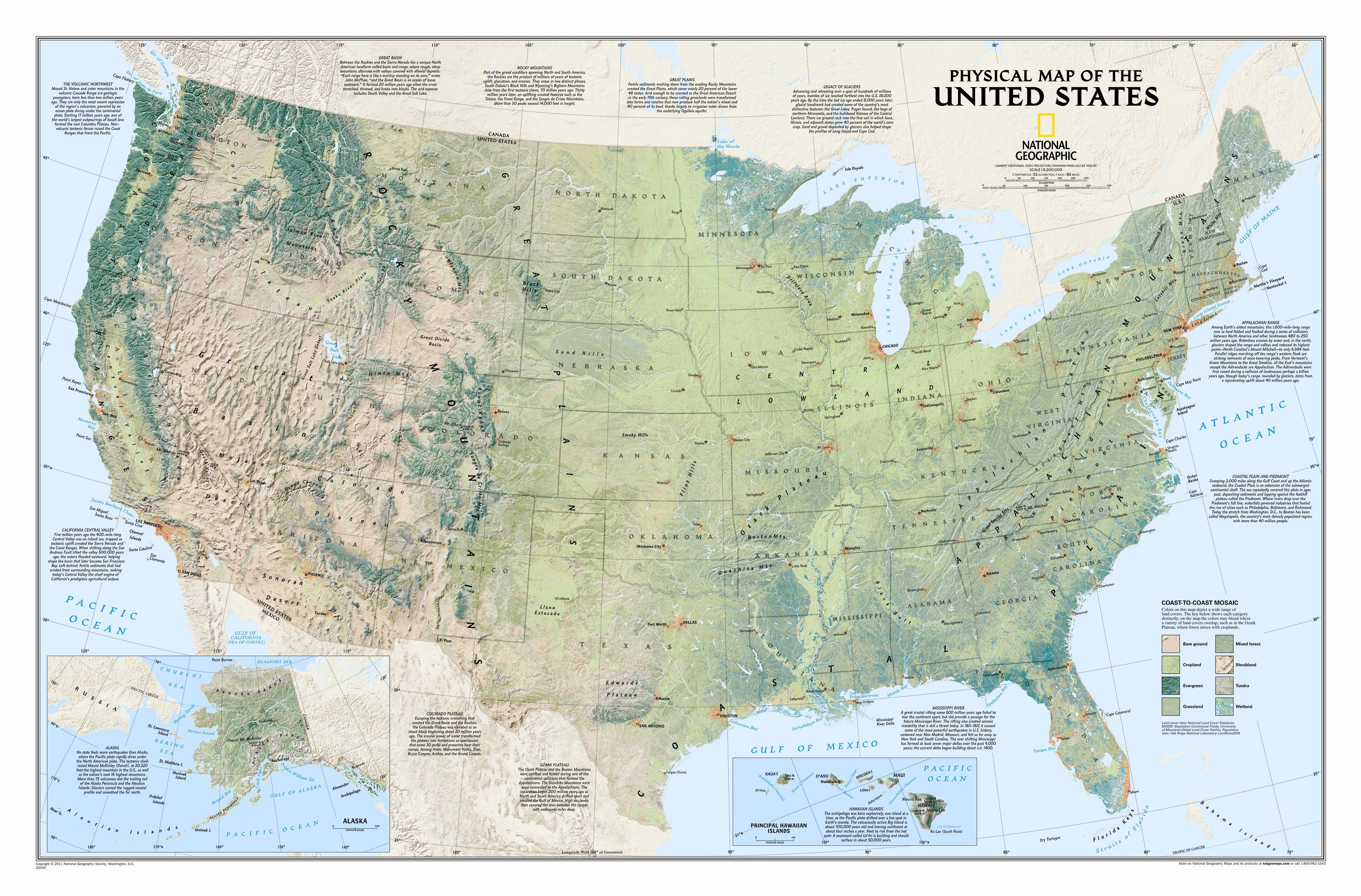 National Geographic Maps United States Physical Wall Map Wayfair