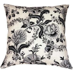 Chidley Floral Print Linen Throw Pillow by Red Barrel Studio Comparison