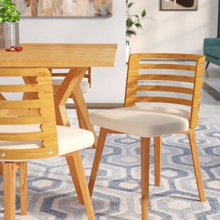 Westhoff Bamboo Upholstered Dining Chair by Brayden Studio