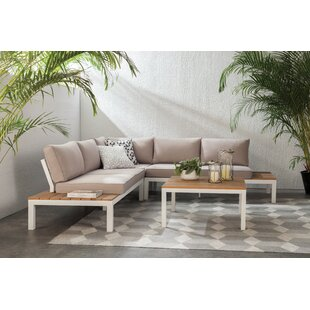Schneider 4 Piece Sectional Set with Cushion