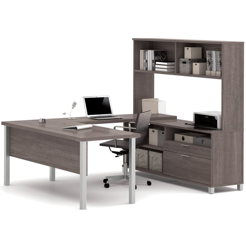 Heyworth 4 Piece Office Set With Hutch Reviews Allmodern