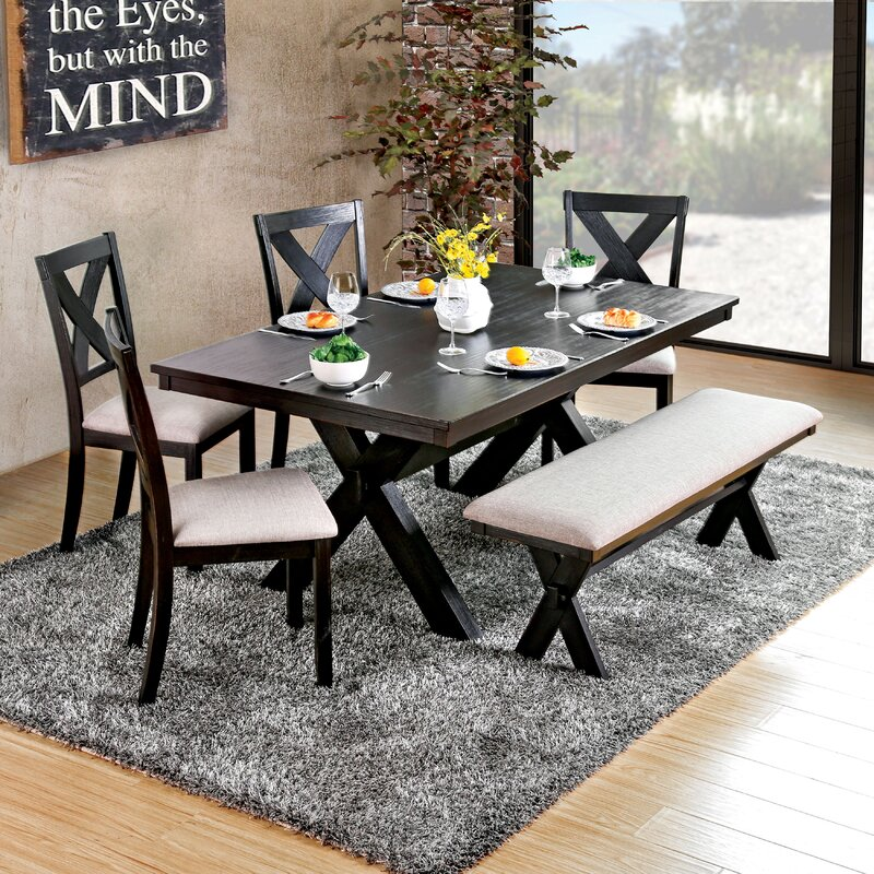 ad4204d94cd3 Laurel Foundry Modern Farmhouse Manitou Transitional Dining Table   Reviews