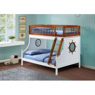 Soluri Wooden Twin over Full Bunk Bed