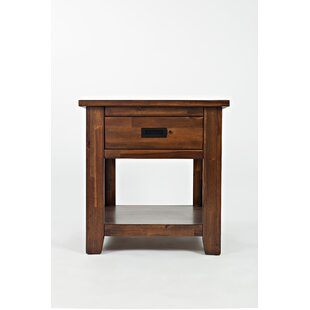 Mauricio Contemporary End Table by Millwood Pines