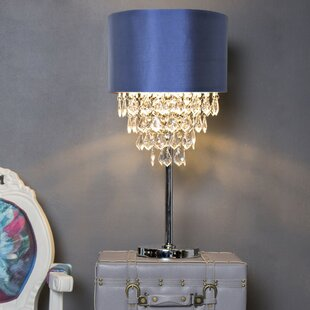 Channelle 25.75 Tiered Crystal Table Lamp