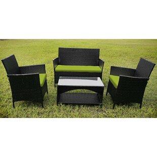 outdoor garden furniture 4 piece lounge seating group - Garden Furniture 4 All