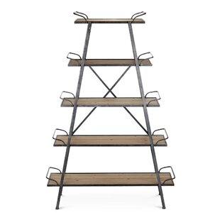 Struck Wood and Metal Etagere Bookcase by Gracie Oaks