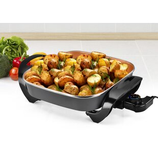 Nonstick Copper Indoor Electric Skillet