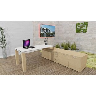 Liz L-Shape Executive Desk By Ebern Designs