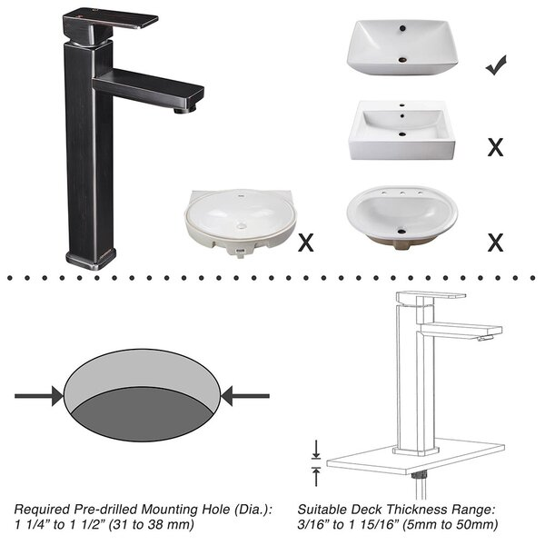 Aquaterior Modern Brushed Nickel Single Hole Tall Bathroom Faucet One Handle Vessel Sink Faucet Mixer Faucet Diy Cupc Wayfair Ca
