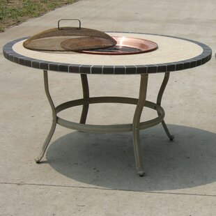 Oakland Living Stone Art Aluminum Wood Burning Fire Pit Table