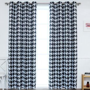 Black Houndstooth Curtain