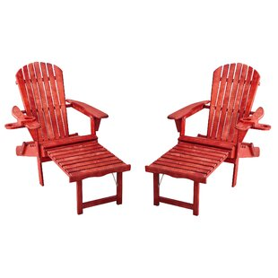 Adirondack Chair With Ottoman Wood Adirondack Chairs You Ll Love In 2021 Wayfair