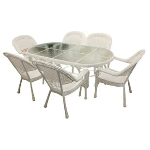 Middlewich Resin Wicker 7-Piece Patio Dining Set