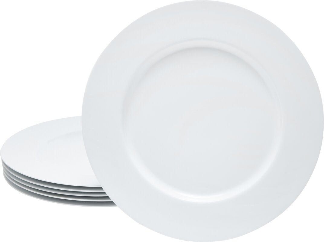 Calypso Basics Melamine Dinner Plate in White (Set of 6)  sc 1 st  Wayfair & Reston Lloyd Calypso Basics Melamine Dinner Plate in White (Set of 6 ...