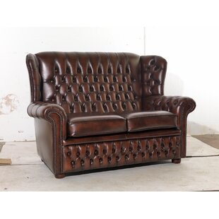 Parocela Genuine Leather Loveseat By Rosalind Wheeler