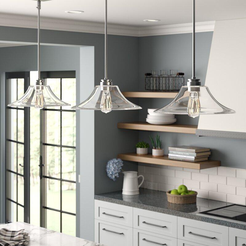 Laurel Foundry Modern Farmhouse Clayton 3 Light Kitchen Island Linear Pendant Reviews