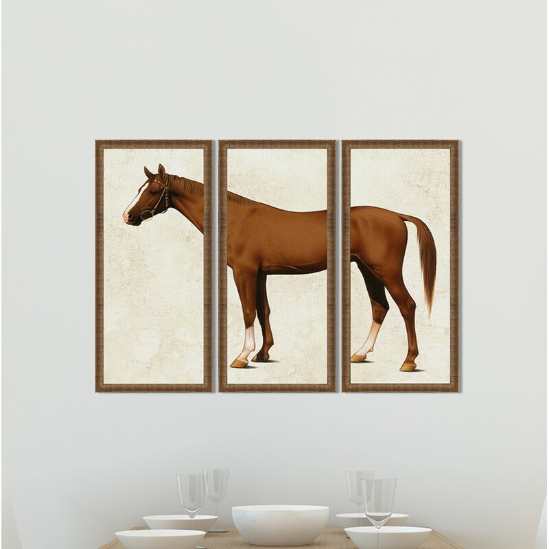 Birch Lane™ Horse Triptych Framed Print | Wayfair