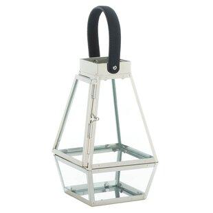 Gracie Oaks Strap Stainless Steel Lantern