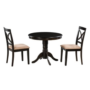 Katelyn 3 Piece Solid Wood Dining Set by Alcott Hill Best #1